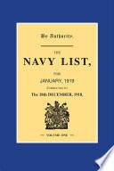 Navy List January 1919 - Volume 1