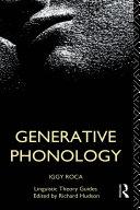 Pdf Generative Phonology Telecharger
