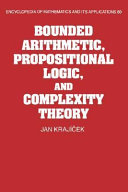 Bounded Arithmetic  Propositional Logic and Complexity Theory