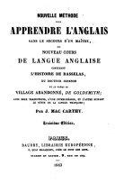 Nouvelle méthode pour apprendre l'anglais ... contenant l'histoire de Rasselas ....