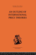 An Outline of International Price Theories [Pdf/ePub] eBook
