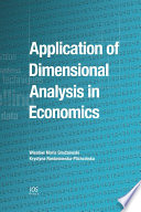 Application Of Dimensional Analysis In Economics Book PDF
