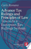 Advance Tax Rulings And Principles Of Law Book