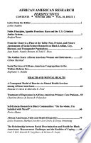 African American Research Perspectives  : An Occasional Report of the Program for Research on Black Americans, African American Mental Health Research Center, Research Center for Group Dynamics, Institute for Social Research, University of Michigan
