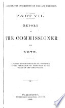 Report of the Commissioner - United States Commission of Fish and Fisheries