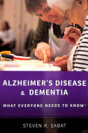 link to Alzheimer's disease and dementia : what everyone needs to know in the TCC library catalog