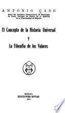 El concepto de la historia universal y la filosofía de los valores