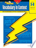 Power Practice Vocabulary In Context Gr 5 8 Ebook