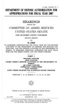 Department of Defense Authorization for Appropriations for Fiscal Year 2007