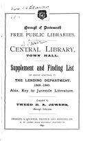 Supplement and Finding List of Recent Additions to the Lending Department, 1888-1893