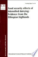 Food Security Effects Of Intensified Dairying Book PDF