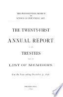 Annual Report of the Trustees for the Fiscal Year Ending