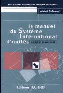 Le manuel du Système international d'unités