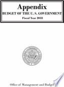 Appendix Budget Of The U S Government Fiscal Year 2018