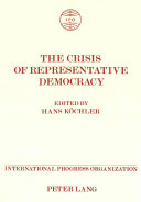 Pdf The Crisis of Representative Democracy