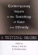 Contemporary Issues in the Sociology of Race and Ethnicity
