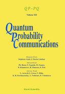Quantum Probability Communications Qp-Pq