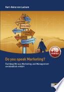 Do you speak Marketing?