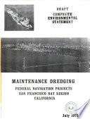 Maintenance Dredging of Federal Navigation Projects in San Francisco Bay Region, California