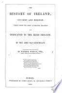 History of Ireland  ancient and modern  Translated     by P  O Kelly Book PDF