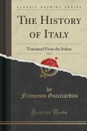 The History of Italy  Vol  2