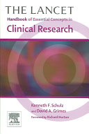 The Lancet Handbook of Essential Concepts in Clinical Research