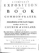 A Compleat Exposition of the Book of Common prayer
