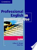 Cover of Professional English in Use Law