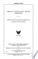 Special Joint Task Force Report on Alaskan Native Issues