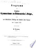 Programm des Königlichen Gymnasiums zu Hohenstein in Ostpreussen