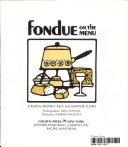 Fondue on the Menu