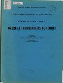 Inventaire de la série H, tome II: ordres et communautés de femmes