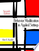 Behavior Modification in Applied Settings