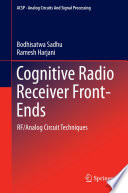 Cognitive Radio Receiver Front Ends Book