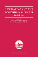 Law Making and the Scottish Parliament