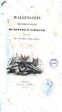Wallenstein poema drammatico in tre parti di Federico Schiller
