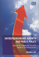 Entrepreneurship  Growth and Public Policy