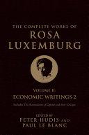 The Complete Works of Rosa Luxemburg, Volume II Pdf/ePub eBook