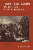 British Emigration to British North America