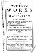 The Whole Comical Works of Monsr. Scarron Pdf/ePub eBook