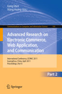 Advanced Research on Electronic Commerce  Web Application  and Communication