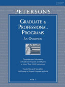 Peterson s Graduate and Professional Programs Book