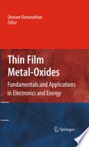 Thin Film Metal Oxides Book