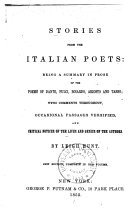 Pdf Stories from the Italian Poets