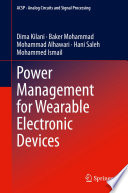 Power Management for Wearable Electronic Devices Book