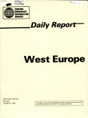 Daily Report  West Europe