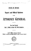 Pdf Report and Official Opinions of the Attorney-General