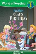 World of Reading Frozen  Olaf s Birthday