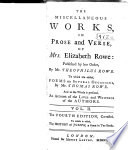 The Miscellaneous Works In Prose And Verse Of Mrs Elizabeth Rowe Book PDF