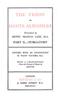 The Vision of Dante ALighieri: Purgatory